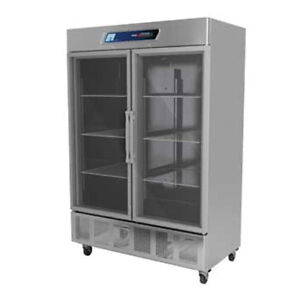 Fagor Qvr 2g Two Section Reach in Refrigerator With Glass Door 52 Cu Ft