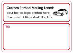 1 000 Custom Printed Mailing Labels Business Shipping Stickers 1 Ink Color 4x3