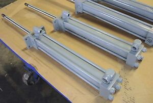 Hydro Line Hydraulic Cylinder Model 1e8205 009 48 psb 206947 s Two In Stock