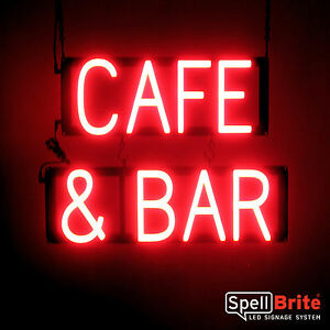 Spellbrite Ultra bright Caf Bar Sign Neon Look Led Performance