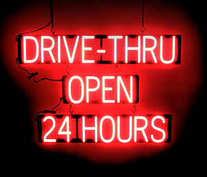 Spellbrite Ultra bright Drive thru Open 24 Hours Sign Neon Look Led Performance