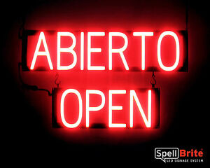 Spellbrite Ultra bright Abierto Open Sign Neon Look Led Performance