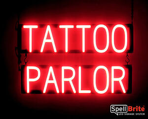 Spellbrite Ultra bright Tattoo Parlor Sign Neon Look Led Performance
