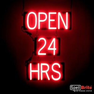 Spellbrite Ultra bright Open 24 Hrs Sign Neon Look Led Performance