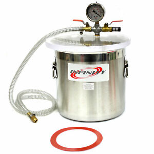 12l Vacuum Chamber Stainless Steel Degassing 3 Gallon Pump Degassing Chamber