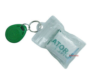 100pcs Cpr Mask Keychain One way Valve Mouth To Mouth Resuscitation Mask Pvc Bag