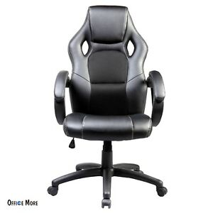 Executive Swivel Racing Office Chair High Back Computer Desk Seat Pu Leather