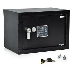 New Compact Electronic Safe Box With Mechanical Override Includes Keys 13 X 9