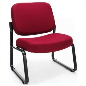 Ofm Big And Tall Reception Armless Guest Chair In Wine Transitional