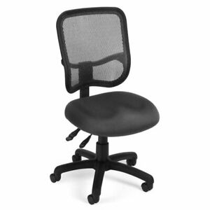 Ofm Mesh Comfort Series Ergonomic Task Office Chair Chairs In Gray