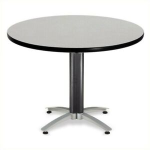 Ofm Mesh Base 42 Round Table In Gray Nebula Transitional Conference