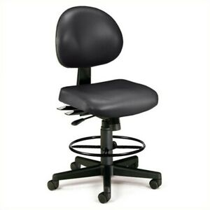 Ofm 24 Hour Task Drafting Office Chair With Drafting Kit In Black