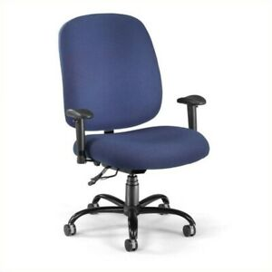 Ofm Big And Tall Office Chair With Arms In Navy