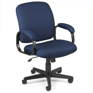 Ofm Executive Low back Task Office Chair In Navy Transitional