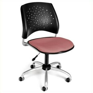 Ofm Star Swivel Office Chair In Coral Pink