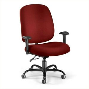 Ofm Big And Tall Office Chair With Arms In Wine