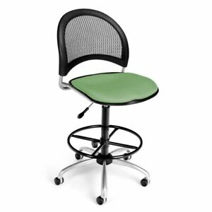 Ofm Moon Fabric Swivel Drafting Stool In Sage Green