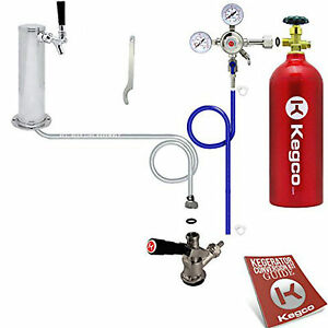 Kegco Single Tap Faucet Draft Beer Tower Kegerator Mini Fridge Conversion Kit