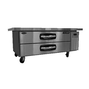Nor lake Nlcb60 60 Refrigerated Base Equipment Stand 2 Drawers