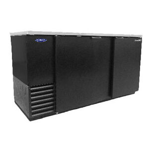 Nor lake Nlbb69 69 Two Section Refrigerated Back Bar Cabinet