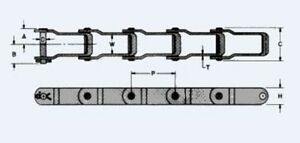 Manure Spreader Chain P662 10ft Pintle Chain New From Factory