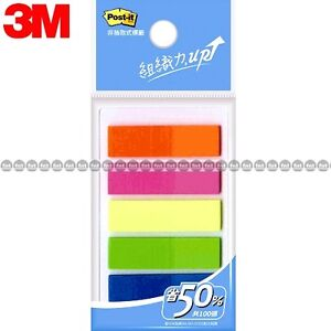 3m Post it Flags 583 5 5 Colors Bookmark Point Sticky Note Plastic Paper Index