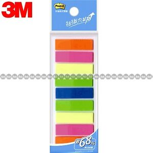 3m Post it Flags 583 9 9 Colors Bookmark Point Sticky Note Plastic Paper Index