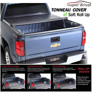 Fit 2007 2013 Chevy Silverado 5 8 Short Bed Roll Up Lock Soft Tonneau Cover