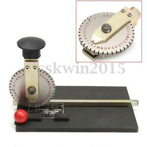 Stamping Embosser Manual Embossing Machine Metal Deboss Plate Dog Tag Printer