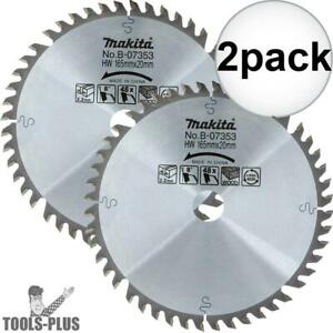 2pk 6 1 2 48 Tooth Circular Saw Blade Makita B 07353 New