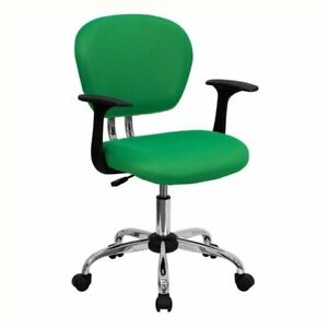 Scranton Co Mid back Mesh Office Chair With Arms In Bright Green