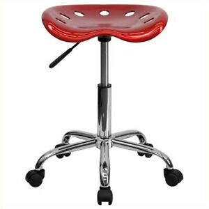 Scranton Co Adjustable Bar Stool And Tractor Seat In Wine Red