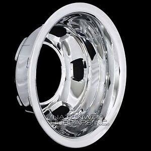 1 Rear 2003 18 Dodge Ram 3500 17 Chrome Dual Wheel Simulators Dually Rim Cover