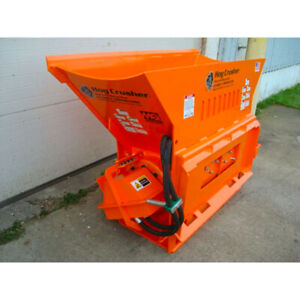 Skid Steer Concrete Crusher Attachment Hog Crusher For Bobcat Kubota More