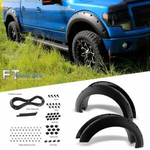 Textured 2009 2014 Ford F150 Pocket Riveted Fender Flares Cover Trim Paintable