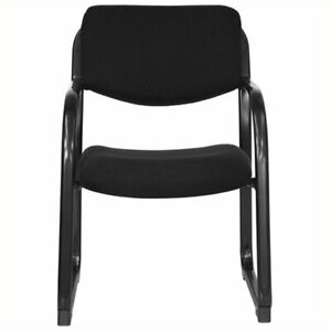 Scranton Co Executive Side Guest Chair With Sled Base In Black