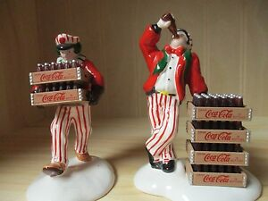 Dept 56  Snow Village Coca Cola Delivery Men (5480-1)