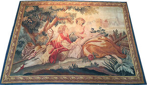 An Antique Wall Hanging French Tapestry Romantic