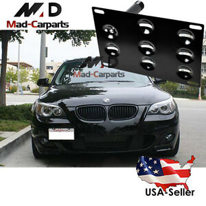 Front Bumper Tow Hook License Plate Mount Bracket Holder For Bmw 1 3 5 X5 X6 E90