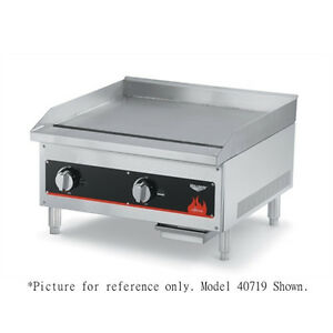 Vollrath 40722 24 Countertop Gas Cayenne Griddle With Thermostatic Controls