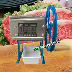 Manual Hand cranked Meat Slicing Cutting Shredding Machine Meat Slicer Cutter
