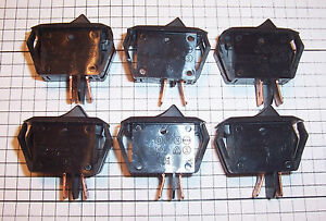 6 New Carling On Off Miniature Rocker Ra901 911t85 Quick Connect Switch Nos