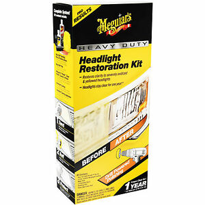 Meguiar s Heavy Duty Headlight Restoration Kit Provides Professional Results Hq