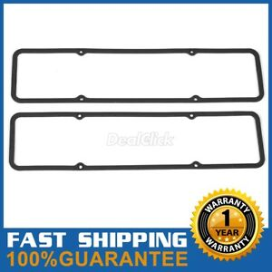 Rubber Valve Cover Gaskets Fits Sbc Small Block Chevy Steel 7484box