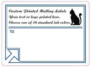 Printed Mailing Labels 5 000 Custom Shipping Box Stickers 1 Color 4 X 3
