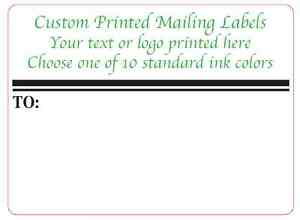 Custom Shipping Labels 1 000 Printed 4x3 Business Mailing Stickers 1 ink Color