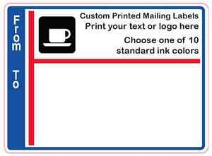 1 000 Custom Mailing Labels 3 X 4 Printed 1 color Business Shipping Stickers
