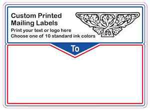 Printed Shipping Labels 2000 Custom 4 X 3 Mailing Stickers 1 Color On Rolls