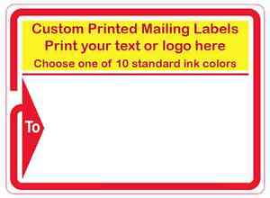 Mailing Labels 2000 Printed Custom Business Shipping Stickers 3 X 4 1 Color