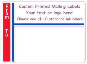 Printed Mailing Labels 1 000 Custom Shipping Stickers 3 X 4 Business 1 color